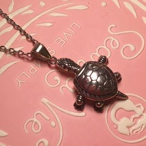 NEW Sterling Silver Turtle Pendant